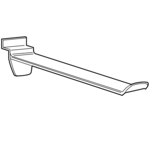 DH800 Moulded Display Hook - 100mm