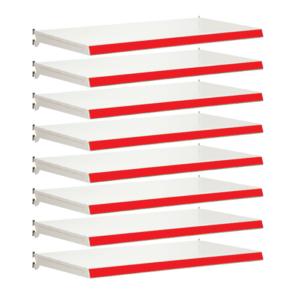 Pack of 8 complete shelves for Evolve S50i - Jura & Red