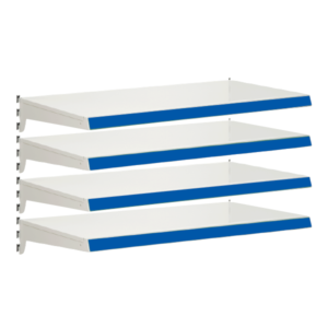 Pack of 4 complete heavy duty shelves for Evolve S50i - Jura & Blue