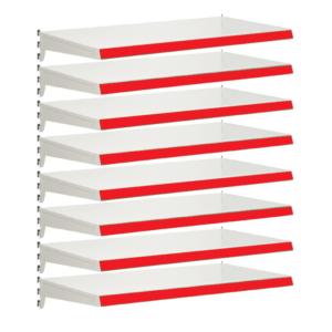 Pack of 8 complete heavy duty shelves for Evolve S50i - Jura & Red