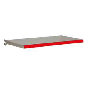 Evolve S50i Complete Shelf - Silver with Red Shelf Edge