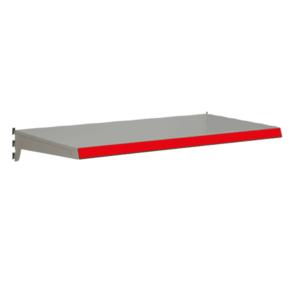 Heavy Duty Shelf bundles to suit Evolve S50i retail shop shelving - Silver & Red