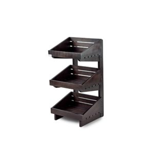 SP164 - Dark 3 Tier Wooden Counter-Top Stand