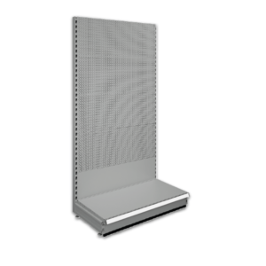 Pegboard shop shelving bays - Silver 9006