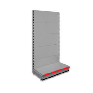 Single sided shop shelving - Silver Grey 9006