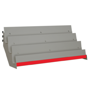 Tiered Shelves for Magazines etc to suit Evolve S50i and other 50mm pitch shop shelving systems